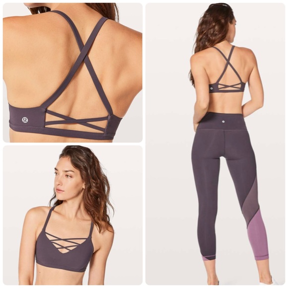 903ebe6a7d NWT Laced With Intent Lululemon Bra purple Size 8